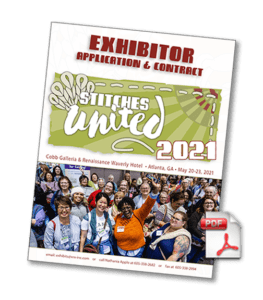 Stitches United 2021 Exhibitor packet cover with pdf icon