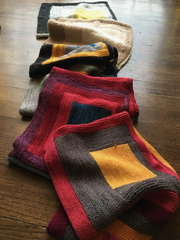 Color Theory and Log Cabin Knitting: The Albers Cowl