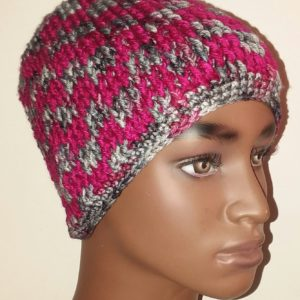 Two-Color Post Stitch Hat
