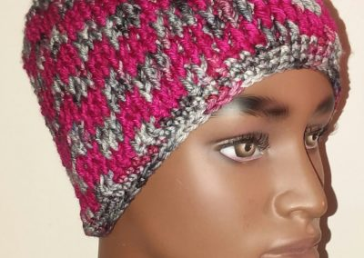 Two-color Post-stitch Hat