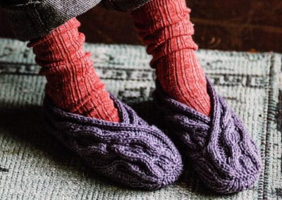 Japanese Knitted Slippers from Michiyo