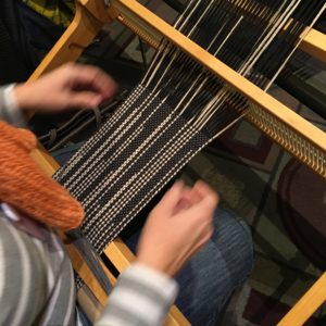 Weave a Clasped Warp scarf on the Rigid Heddle Loom