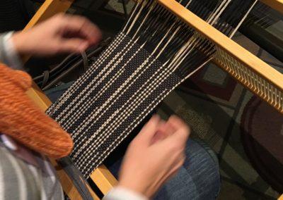 Clasped-warp Scarf on the Rigid-heddle Loom