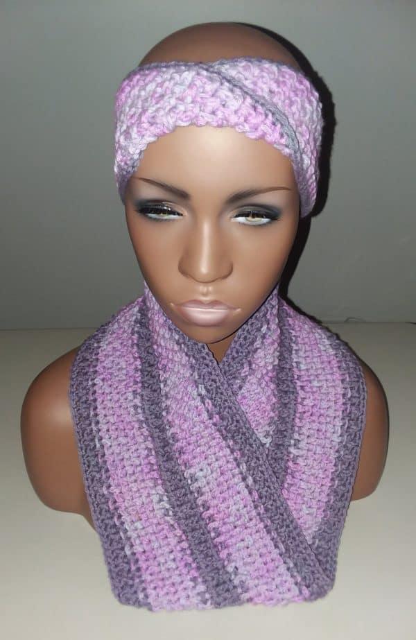 Textured Crochet Mobius