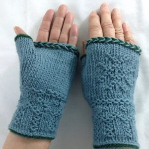 Swedish Twined Knitted Fingerless Mitts