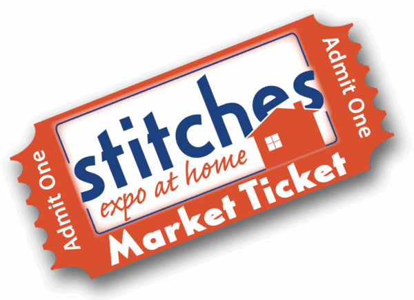STITCHES Expo at Home Market Ticket graphic