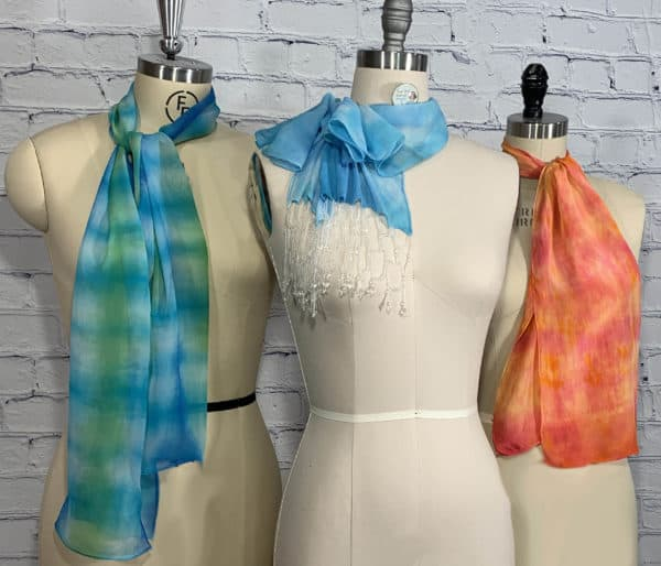 Silk to Dye (and Bead! and Sew!) For