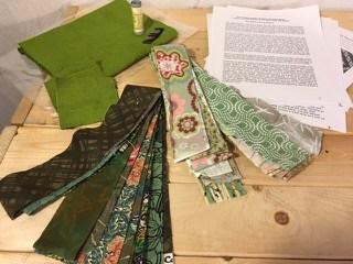 Pocket Patchwork: Pleated Log Cabin Block - Green Tea Colorway