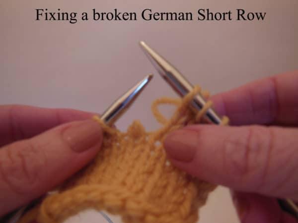 German Short-Rows: Eins, Zwei, Drei