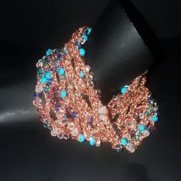 Crochet Mobius Beaded Mesh Bracelet