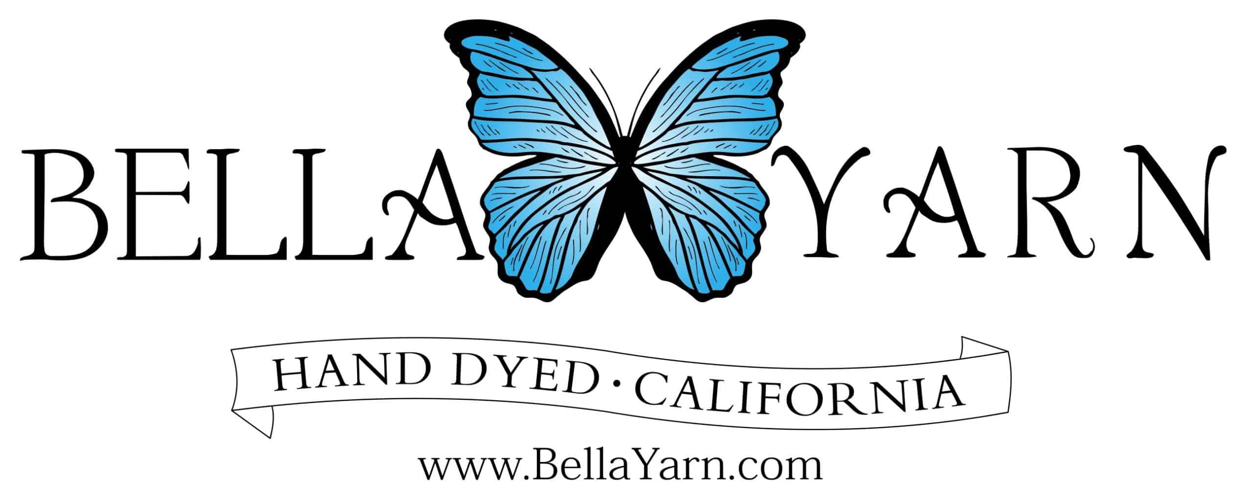 Bella Yarn Logo; Bella Yarn Hand Dyed California www.BellaYarn.com