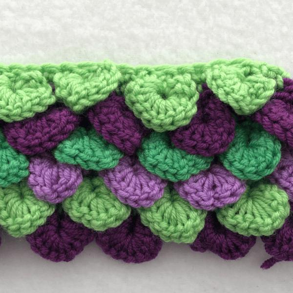 Crochet Stitch Workshop: Crocodile Stitch