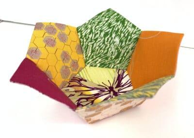 English Paper Piece a  Pentagonal Bowl