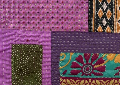 Bold Hand Stitching as Your Quilting Line