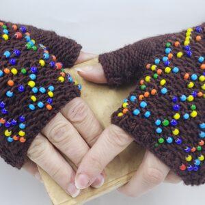 Fun Beaded Gloves