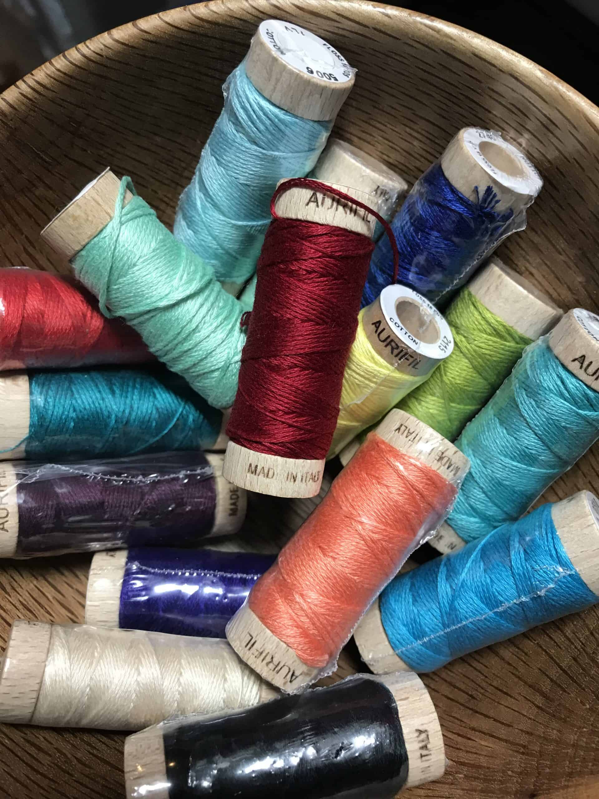 Colorful threads from Aurifil