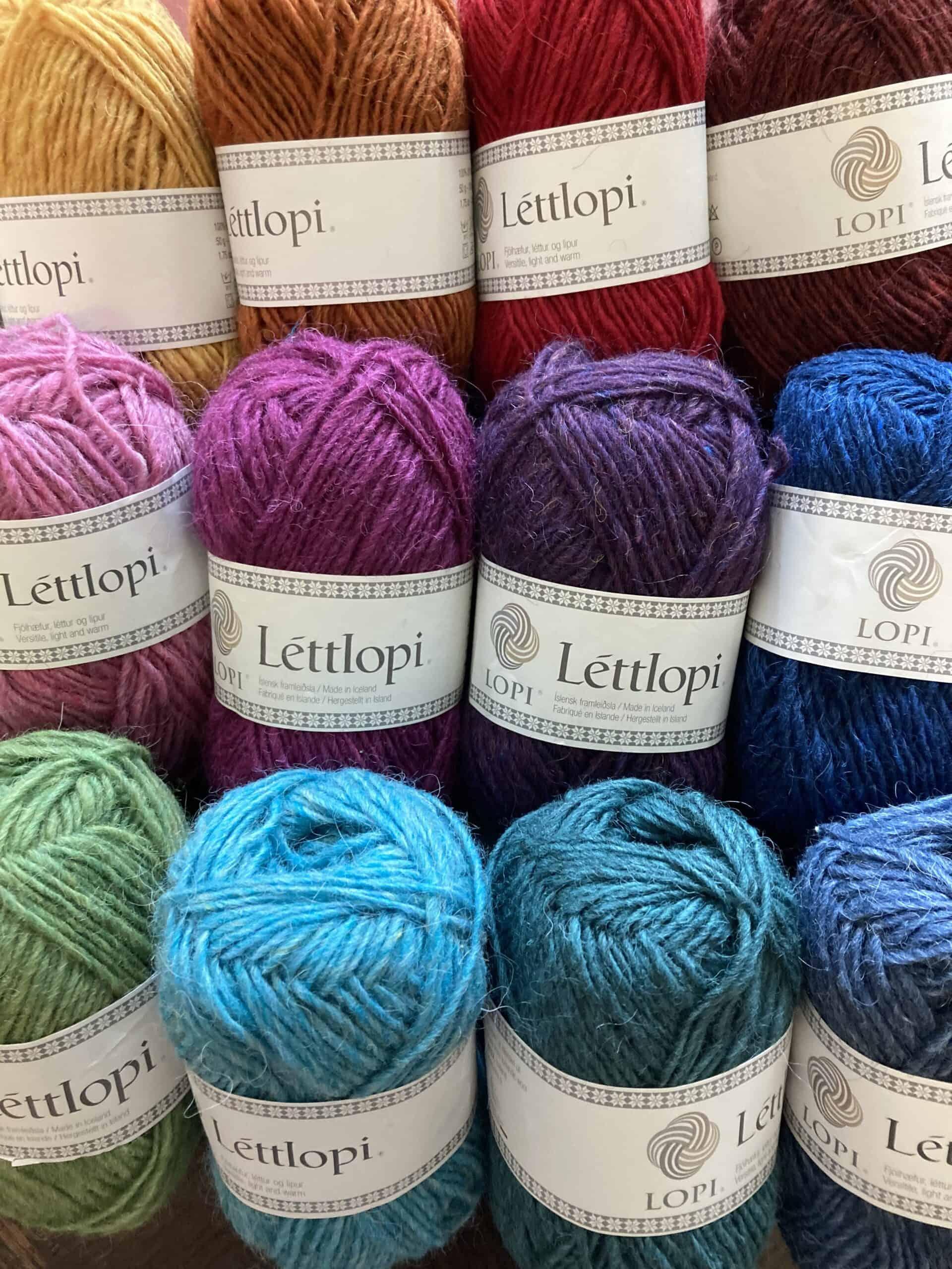 Luscious shades of Léttlopi yarn